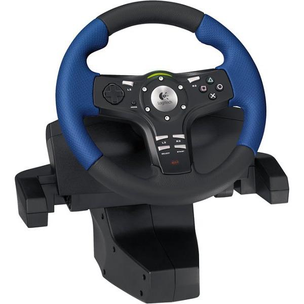 logitech driving force ex pour playstation 2 volant pc logitech sur ldlc. Black Bedroom Furniture Sets. Home Design Ideas