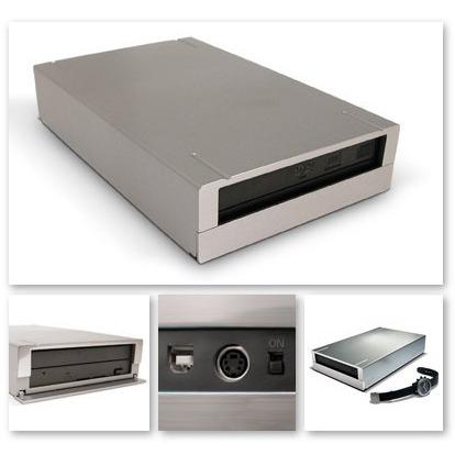 Lecteur graveur LaCie DVD±RW Drive 16x LaCie DVD±RW Drive 16x, Design by F.A. Porsche (USB 2.0)