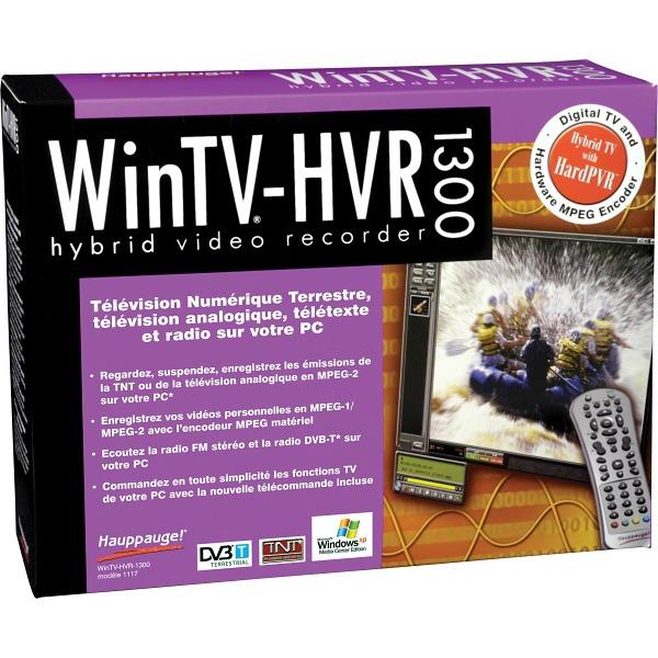 Carte TV Hauppauge WinTV-HVR-1300 Hauppauge WinTV-HVR-1300 - Carte TV PCI (analogique + numérique)  avec encodeur matériel