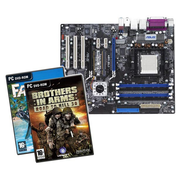 Carte mère ASUS A8N-SLI Deluxe (NVIDIA nForce4 SLI) - ATX (+ Jeux Brothers in Arms et Far Cry) ASUS A8N-SLI Deluxe (NVIDIA nForce4 SLI) - ATX (+ Jeux Brothers in Arms et Far Cry)