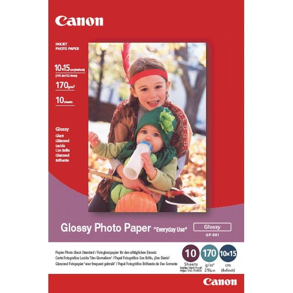 """Papier imprimante Canon GP-501 10x15 Canon GP-501 - Papier Photo Glacé """"usage économique"""" 10x15 (100 feuilles), 170 g"""