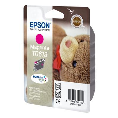 Cartouche imprimante Epson T0613 Epson T0613 - Cartouche d'encre magenta (250 pages à 5 %)