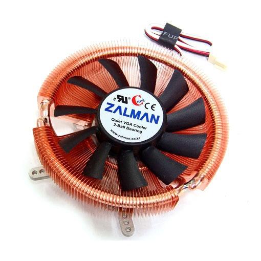 Ventilateur carte graphique Zalman VF900-Cu Ventilateur pour carte graphique (pour ATI Radeon HD4850/4830/4670/4650/3850/3650/2600/2400, X1900/1800 et Nvidia GeForce 8800/8600/8500/9600/9500/7900/7800/7600...)