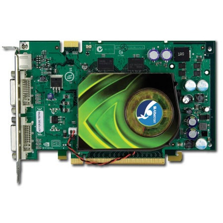 Carte graphique Albatron GeForce 7600 GT 256 Mo Albatron GeForce 7600 GT - 256 Mo TV-Out/Dual DVI - PCI Express (NVIDIA GeForce 7600 GT)