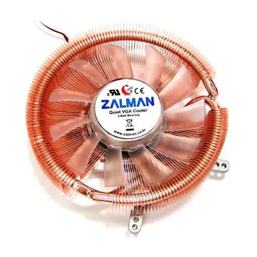 Ventilateur carte graphique Zalman VF900-Cu LED Ventilateur pour carte graphique (pour ATI Radeon HD4850/4830/4670/4650/3850/3650/2600/2400, X1900/1800 et Nvidia GeForce 8800/8600/8500/7900/7800/7600/6800...)