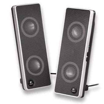 logitech v10 haut parleurs pour ordinateur portable 970194 0914 achat vente enceinte pc. Black Bedroom Furniture Sets. Home Design Ideas