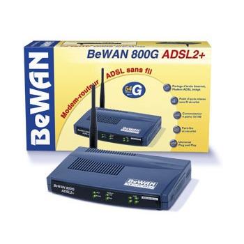 Modem & routeur BeWAN 800G ADSL2+ BeWAN 800G ADSL2+ - Modem-routeur sans fil très haut débit