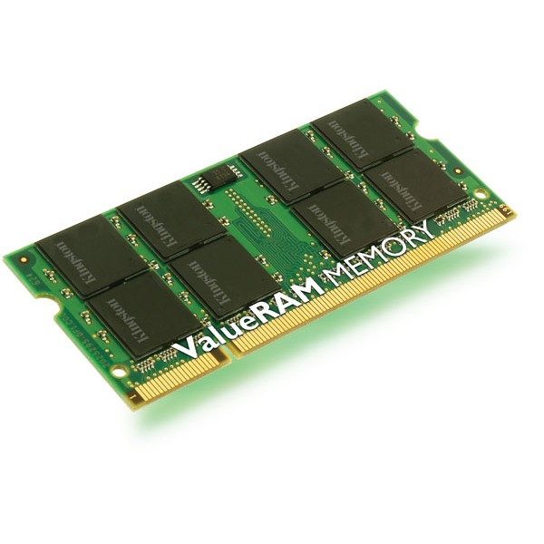 Mémoire PC portable Kingston ValueRAM SO-DIMM DDR2 667 MHz Kingston ValueRAM SO-DIMM DDR2-SDRAM 1 Go PC2-5300 - KTH-ZD8000B/1G (garantie 10 ans par Kingston)