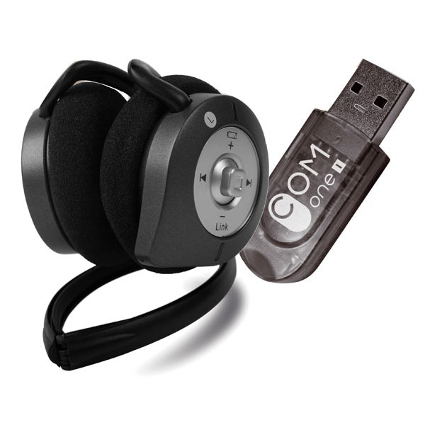 Micro-casque COM One BH002U2 COM One Micro-casque Stéréo Bluetooth + Adaptateur USB bluetooth 2.0 EDR Classe 1