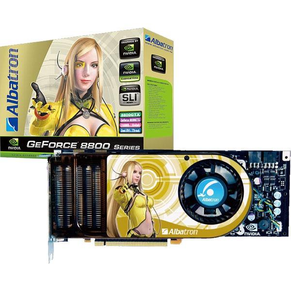 Carte graphique Albatron GeForce 8800 GTX Albatron GeForce 8800 GTX - 768 Mo TV-Out/Dual DVI - PCI Express (NVIDIA GeForce 8800 GTX)