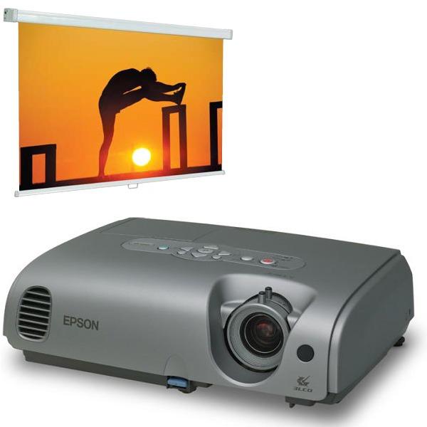 Vidéoprojecteur Epson EMP-X3 - 2000 Lumens XGA, LCD + Ecran Procolor 180 x 180 cm pour un Euro de plus Epson EMP-X3 - 2000 Lumens XGA, LCD + Ecran Procolor 180 x 180 cm pour un Euro de plus