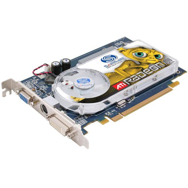 Carte graphique Sapphire Radeon X1300 XT - 256 Mo TV-Out/DVI - 64 bits - PCI Express Sapphire Radeon X1300 XT - 256 Mo TV-Out/DVI - 64 bits - PCI Express (ATI Radeon X1300 XT)