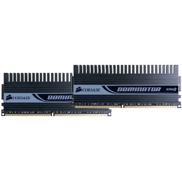 Mémoire PC Corsair Dominator TWIN2X2048-9136C5D Corsair Dominator 2 Go (kit 2x 1 Go) DDR2-SDRAM PC9136 CL5 - TWIN2X2048-9136C5D (garantie à vie par Corsair)