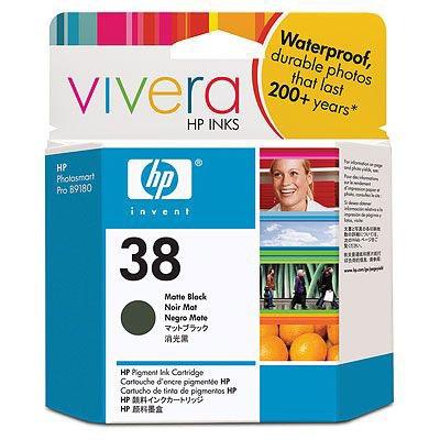 Cartouche imprimante HP 38 - C9412A Cartouche d'encre noire mate