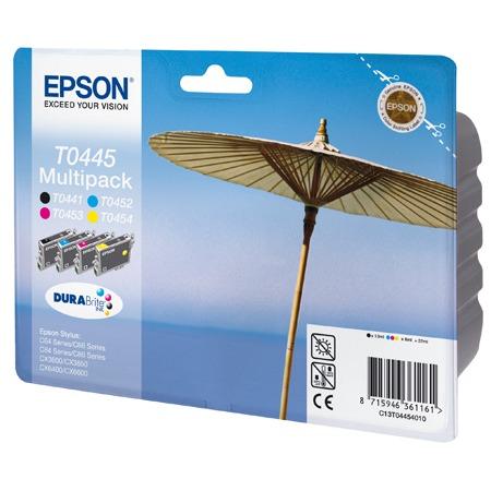 Cartouche imprimante Epson T0445 MultiPack Epson T0445 MultiPack - Cartouche d'encre noire / cyan / magenta / jaune