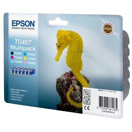 Cartouche imprimante Epson T0487 MultiPack Epson T0487 MultiPack - Cartouche d'encre noire / cyan / magenta / jaune / cyan clair / magenta clair
