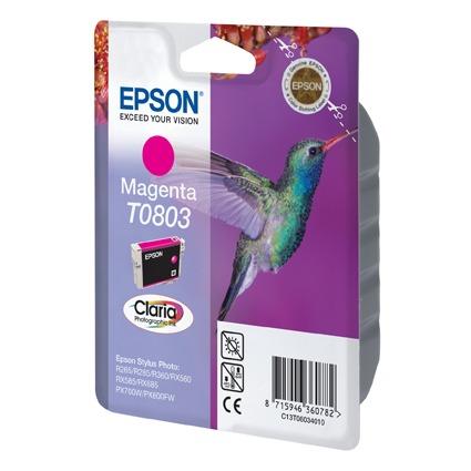 Cartouche imprimante Epson T0803 Epson T0803 - Cartouche d'encre magenta