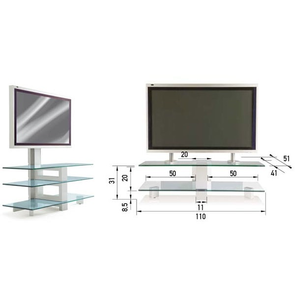 Eurex table pour cran plasma jusqu 39 150 kilos 002444 for Table pour tv ecran plat