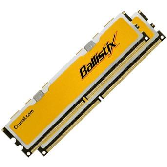 Mémoire PC Ballistix 2 Go (2x 1 Go) DDR2 1066 MHz CL5 Kit Dual Channel RAM DDR2 PC8500 5-5-5-15 - BL2KIT12864AA106A (garantie 10 ans par Crucial)