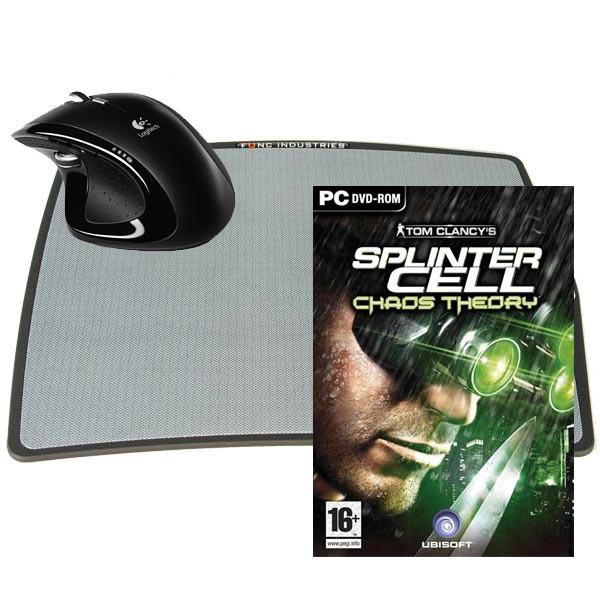 Souris PC Souris + tapis de souris + jeu Logitech MX Revolution Laser Cordless Mouse + fUnc Archetype + Splinter Cell: Chaos Theory