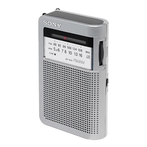 Radio & radio réveil Sony ICF-S22  Sony ICF-S22 - Radio ultracompact analogique (coloris argent)