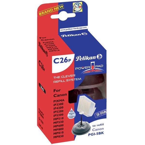 Cartouche imprimante Pelikan PowerPad compatible PGI-5 BK (Pack de 3) Pelikan PowerPad compatible PGI-5 BK (Pack de 3)