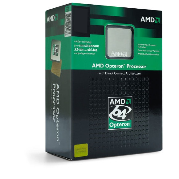 Processeur AMD Opteron 1216 AMD Opteron 1216 - Dual Core 2.4 GHz, Cache L2 2 Mo Socket AM2 0.09 micron (version boîte - garantie constructeur 3 ans)