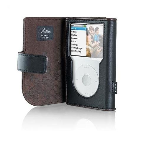belkin housse portefeuille en cuir pour ipod classic