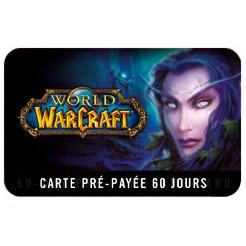 Jeux PC Carte prépayée 60 jours pour World of Warcraft World of Warcraft Carte prépayée 60 jours (PC)
