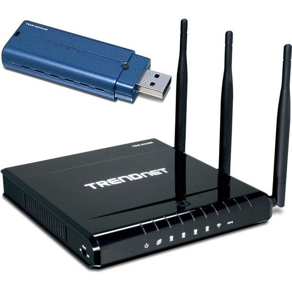 Modem & routeur TRENDnet PACKN300 TRENDnet TEW-633GR + TEW-624UB - Pack Routeur sans fil + Adaptateur USB WiFi N (draft)