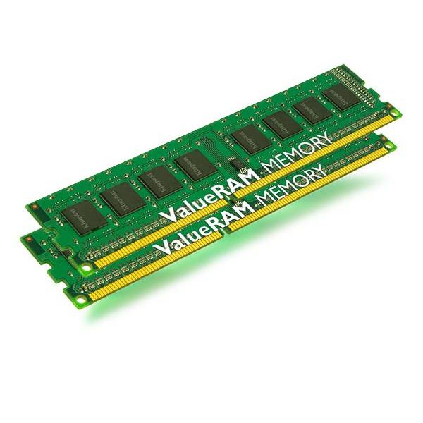Mémoire PC Kingston KVR800D2E5K2/2G Kingston ValueRAM 2 Go (kit 2x 1 Go) DDR2-SDRAM PC6400 ECC CL5 - KVR800D2E5K2/2G (garantie 10 ans par Kingston)