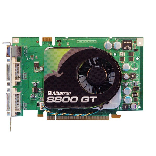 Carte graphique Albatron GeForce 8600 GT - 512 Mo Albatron GeForce 8600 GT - 512 Mo TV-Out/Dual DVI - PCI Express (NVIDIA GeForce 8600 GT)