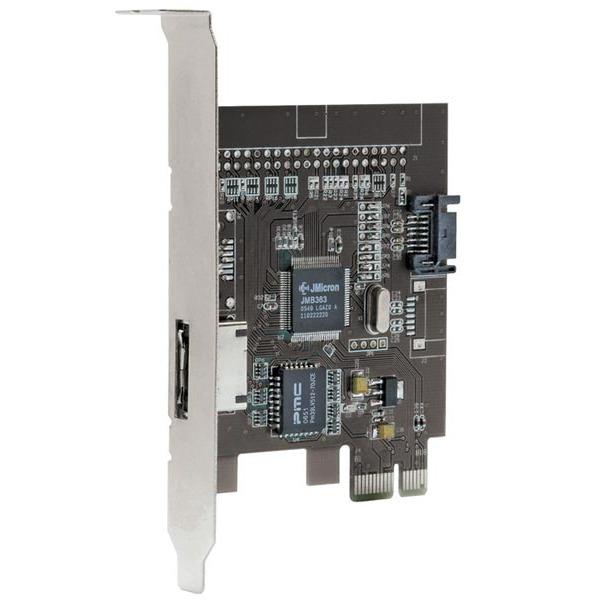 Carte contrôleur Bluestork PCI-ESATA Bluestork carte contrôleur PCI-E avec 1 port eSATA et 1 port SATA interne