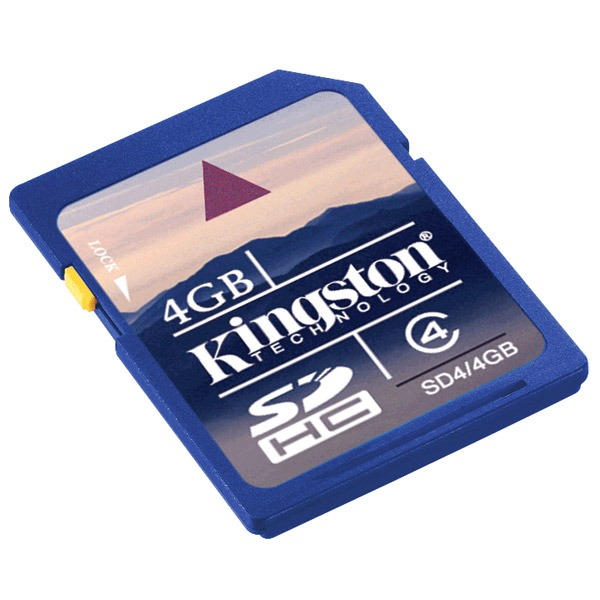 Carte mémoire Kingston SD4/4GB Kingston SDHC 4 Go - Class 4 (garantie 10 ans par Kingston)