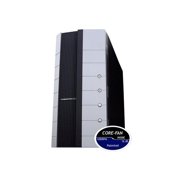 Boîtier PC Sunbeam SILENT STORM Silver/Black Boîtier ATX Argent/Noir