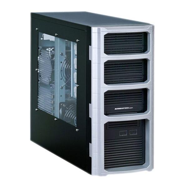 Boîtier PC Sunbeam QUATERBACK avec fenêtre Silver/black Boîtier ATX avec fenêtre latérale Argent/Noir