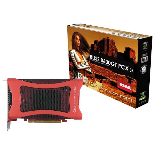 Carte graphique Gainward Bliss 8600 GT 1 Go Gainward Bliss 8600 GT - 1 Go DVI/HDMI - PC Express (NVIDIA GeForce 8600 GT)
