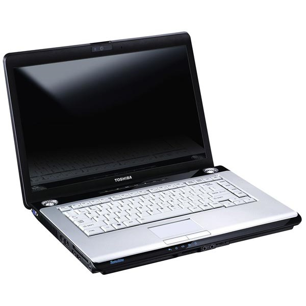 "PC portable Toshiba Satellite A200-25C Toshiba Satellite A200-25C - Intel Core 2 Duo T8100 2 Go 320 Go (2x 160) 15.4"" TFT Graveur DVD Super Multi DL Wi-Fi N Webcam WVFP"