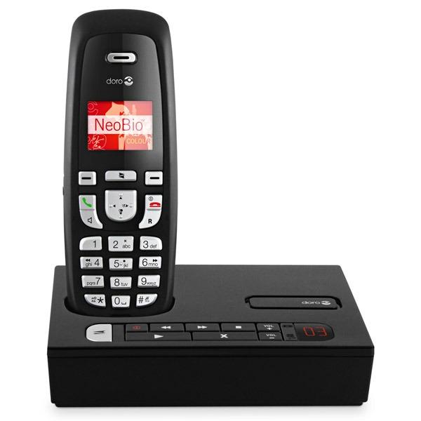 Téléphone sans fil Doro NeoBio 45r Doro NeoBio 45r - Téléphone sans fil DECT répondeur (version française) (coloris noir)