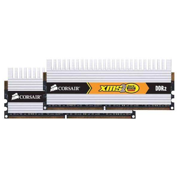 Mémoire PC Corsair XMS2 DHX TWIN2X4096-6400C4DHX Corsair XMS2 DHX 4 Go (kit 2x 2 Go) DDR2-SDRAM PC6400 CL4 - TWIN2X4096-6400C4DHX (garantie 10 ans par Corsair)