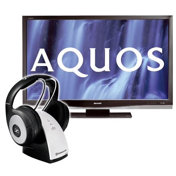 sharp lc 46x20e sennheiser rs 140 lc46x20e rs140 achat vente tv sur. Black Bedroom Furniture Sets. Home Design Ideas