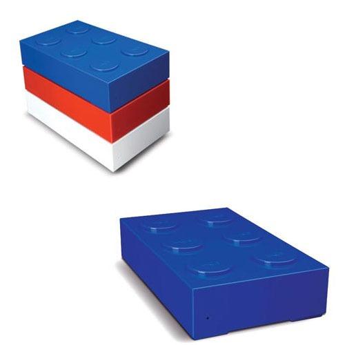 Disque dur externe LaCie Brick Desktop Hard Drive 500 Go Bleu LaCie Brick Desktop Hard Drive 500 Go Bleu (USB 2.0)