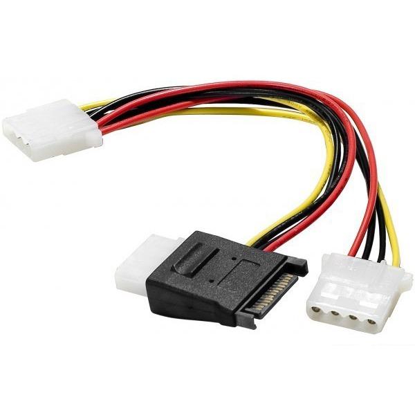 Alimentation Adaptateur d'alimentation SATA vers 3 connecteurs d'alimentation Molex Adaptateur d'alimentation SATA vers 3 connecteurs d'alimentation Molex