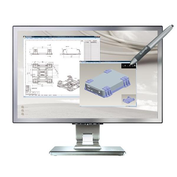 "Ecran PC Belinea s.display 5_22"" wide Belinea 22"" LCD - s.display 5_22"" wide - 5 ms - Fonction tablette graphique - Format large 16:10 - Argent"