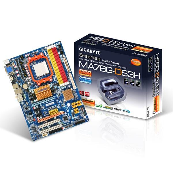 Carte mère Gigabyte GA-MA78G-DS3H Gigabyte GA-MA78G-DS3H (AMD 780G) - ATX