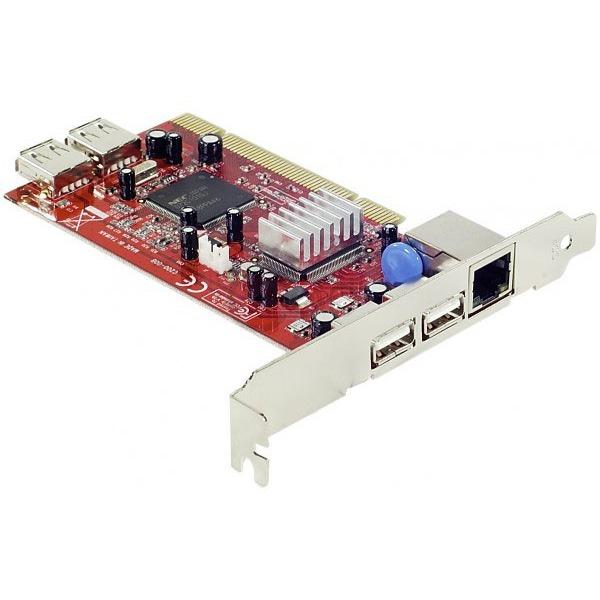 Carte réseau Carte Gigabit Ethernet (PCI) avec 4 ports USB 2.0 (dont 2 internes) Carte Gigabit Ethernet (PCI) avec 4 ports USB 2.0 (dont 2 internes)