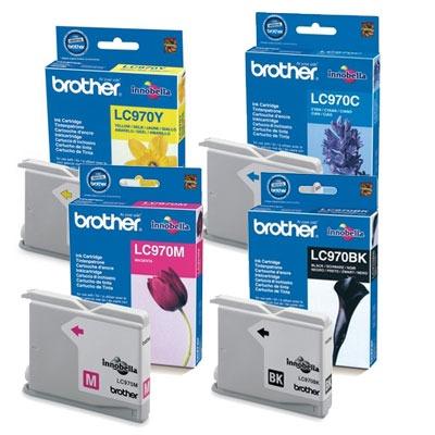 Cartouche imprimante Brother LC970VALBP Pack de 4 cartouches d'encre noire, cyan, jaune, magenta (300 pages à 5%)