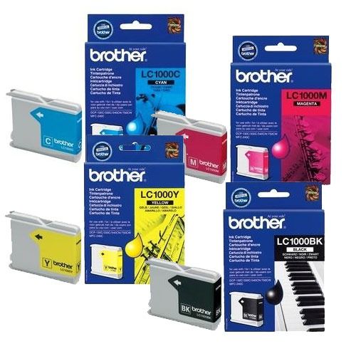 Cartouche imprimante Brother LC1000VALBP Brother pack de 4 cartouches LC1000 (Noir + Cyan + Magenta + Jaune)