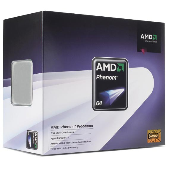 Processeur AMD Phenom X3 Triple-Core 8450 AMD Phenom X3 Triple-Core 8450 - Socket AM2+ 0.065 micron Cache L2 1.5 Mo Cache L3 2 Mo (version boîte - garantie constructeur 3 ans)