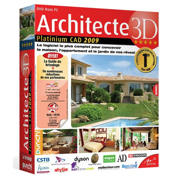 Architecte 3d platinium 2009 avanquest france for Architecte 3d avanquest